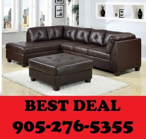 3pcs BONDED LEATHER SECTIONAL SET ONLY $649.00