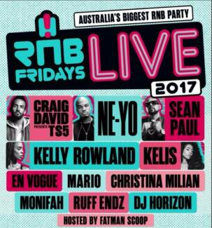 RnB Fridays Brisbane ticket