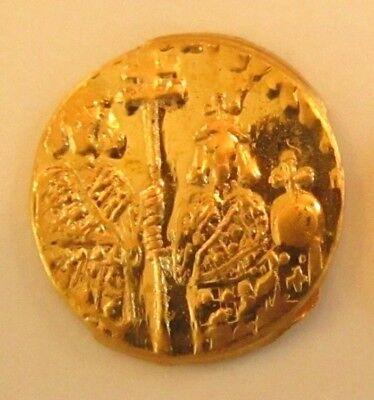 22 Karat Solid Gold Emperor Leo VI Coin Byzantine-style Half Tremissis 1/10 Sov