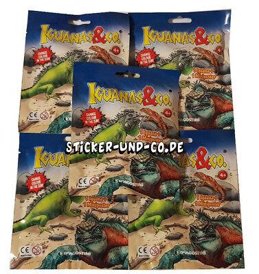 DeAgostini Iguanas & Co 5 Booster Tüten Iguanas und Co Leguane und Co Eidechsen