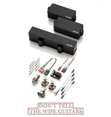 EMG PJ SET BLACK P & J PRECISION / JAZZ BASS ACTIVE PICKUP SET POTS & WIRING Emg Active Bass Pickups
