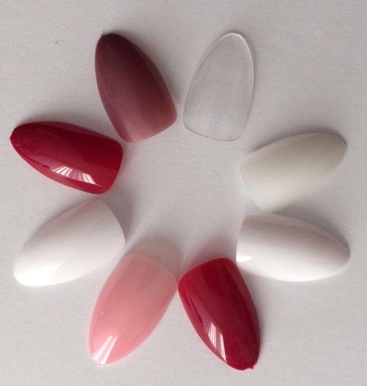 Krallen Stiletto Künstliche Fingernägel viele Varianten Full Size Cover Tips