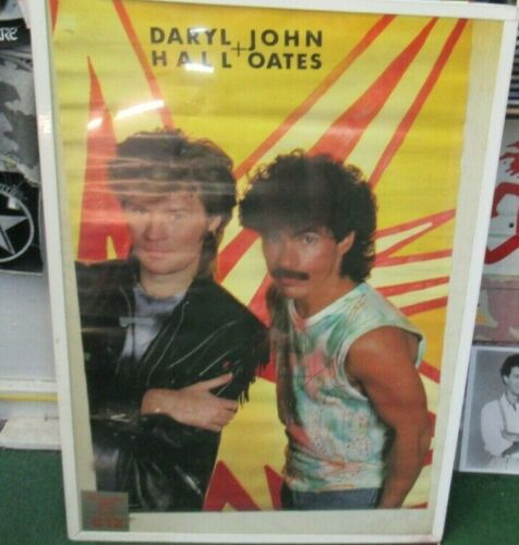 HALL AND OATES POSTER NEW 1985  RARE VINTAGE COLLECTIBLE OOP LIVE HALL & OATES