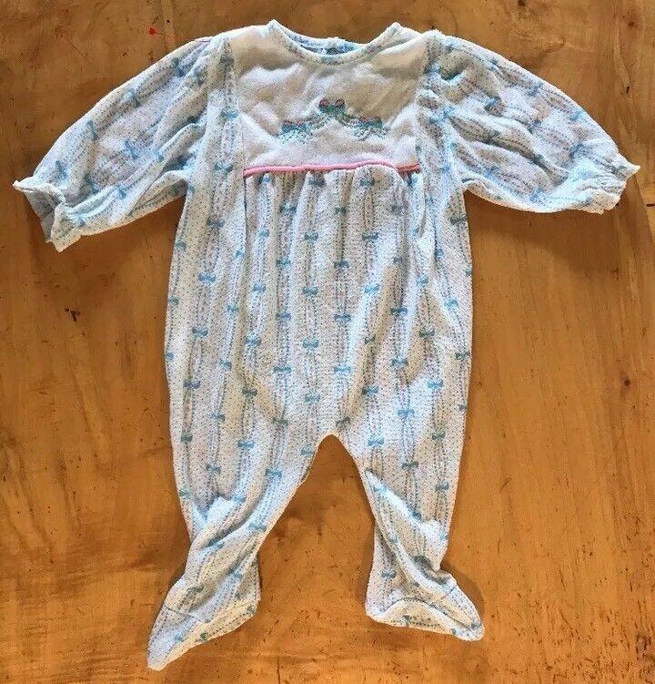Vintage Dr. Denton Baby Outfit Pajamas Size Medium 11 To 18 Lbs
