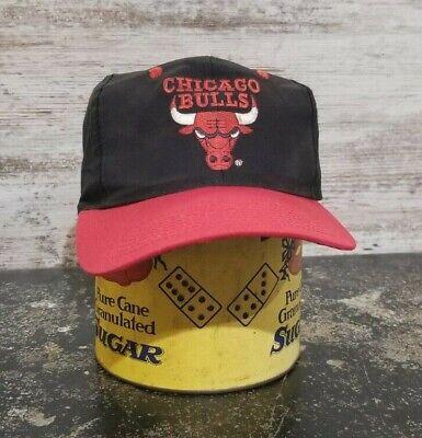 Vintage 1990s -2000s Chicago Bulls Snapback Baseball Cap Hat One Size Fits All U