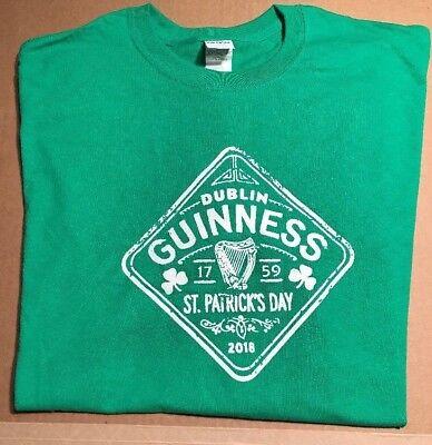 New  Guinness Beer Shirt  Green  Mens Xl   2018 St  Patricks Day  Harp Logo