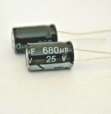 2pcs 10x17mm 680uf 25v 105c