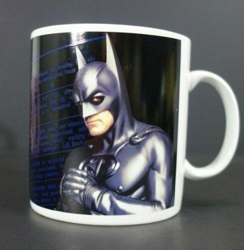 Warner Brothers Studio Store Batman Mug 17oz. DC Comics Rooftop Romeo Wanted Ad