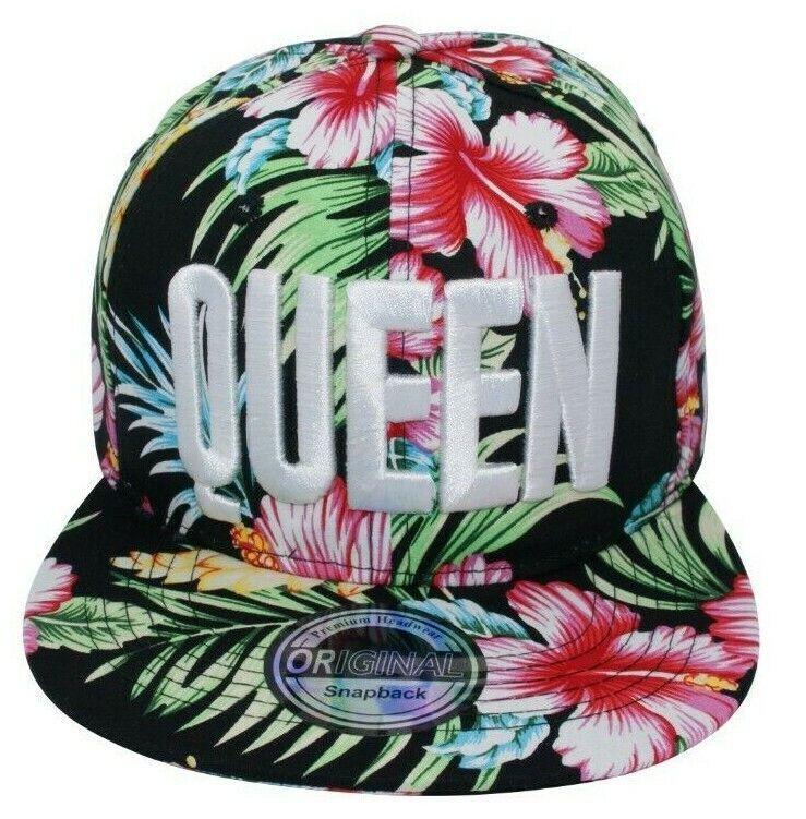 Cappy Kappe Cap Basecap Damen Damenkappe Freizeit Königin QUEEN Hawaii schwarz