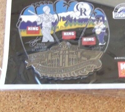 2004 Colorado Rockies Puzzle Pin  4  Coors Field  Bottom  King Soopers