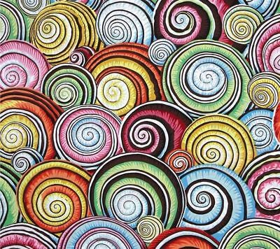 Fat Quarter Kaffe Fassett Spiral Shells MULTI Cotton Quilting/Patchwork Fabrics for sale  Shipping to Ireland