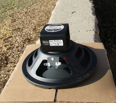 Weber Signature Alnico 8 Inch Speaker 15W 4 Ohms Smooth Cone Great For Champs