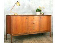 Vintage 'Vanson' for Heal's Danish style teak and rosewood sideboard. Delivery. Modern / Midcentury.
