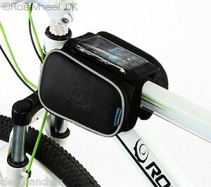 BIKE-MOBILE-PHONE-DOUBLE-FRAME-BAG-TOP-TUBE-CROSS-BAR-PANNIER-ROSWHEEL-UK-12813