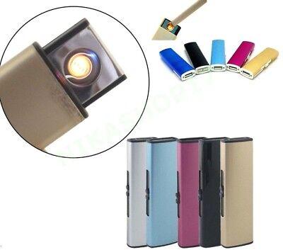 Más Ligero Recargable Eléctrico USB LED Varios Colores Humo Cigarrillo Fumador