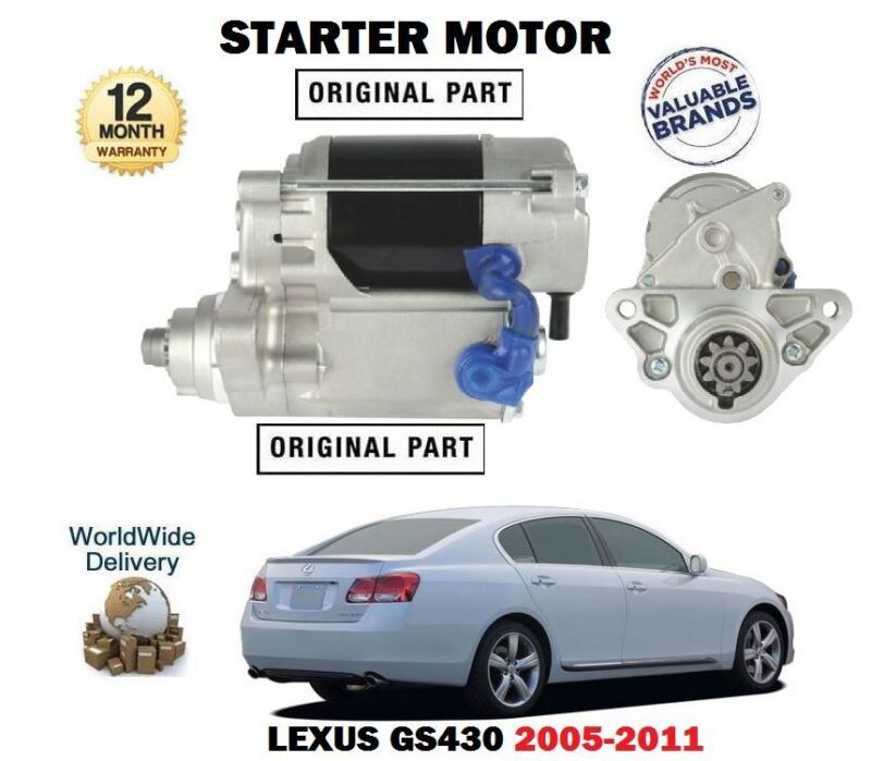 FOR LEXUS GS430 4.3 283BHP 3UZ-FE 4/2005-11/2011 NEW STARTER MOTOR UNIT