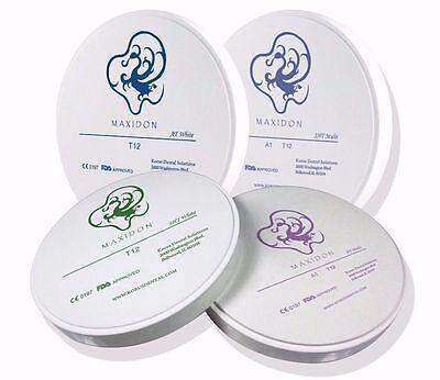 Maxidon Milling Zirconia 98mm Anterior Translucent White Disk Atw
