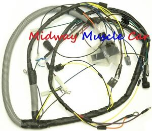 gto wiring harness parts accessories ebay 68 GTO Rear End engine wiring harness 1974 74 pontiac gto ventura console gauges shaker hood
