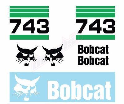 Bobcat 743 Skid Steer Set Vinyl Decal Sticker Aftermarket - Free Shipping
