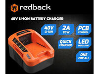 REDBACK 40 V LI-ION BATTERY CHARGER EC20 / EC50 UK PLUG POWER TOOL CHARGING UNIT