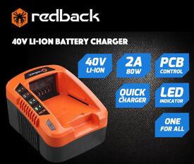 REDBACK 40 V LI-ION BATTERY CHARGER EC20 / EC50 UK PLUG POWER TOOL CHARGING UNIT
