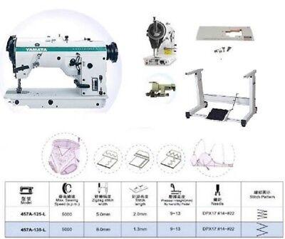 Yamata 457u135l 3-step Zig Zag Industrial Sewing Machine Table Singer Motor