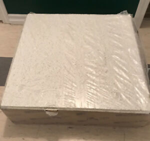 New case of 8 - 2' x 2' USG Sandrift acoustical ceiling tiles