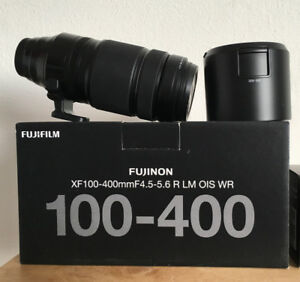 Fujifilm 100-400mm lens, Mint with UV filter