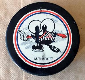 Vintage TIM HORTONS 1996 Inglasco DEFI HOCKEY Mr Timbit Puck