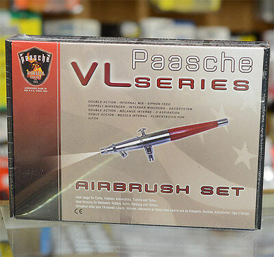 Paasche VL-SET Airbrush Set (Double Action Internal Mix Siphon Feed)
