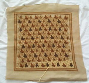 Needlepoint Pre-Worked Canvas & Tapestry Wool - Golden Leaves