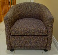 Elegant Tub Chair on Castor - good condition