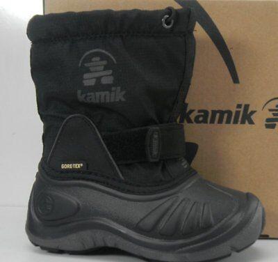 Kamik ShadowG NK8224 EU 25 Unisex-Kinder Stiefel Warm gefütterte Schneestiefel