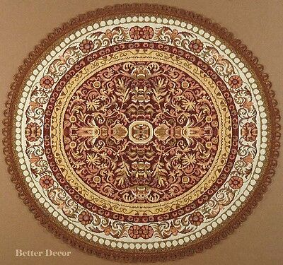 "22"" DECORATIVE TAPESTRY TABLE RUNNER Brown Ornament EURO CENTERPIECE PLACE MAT"