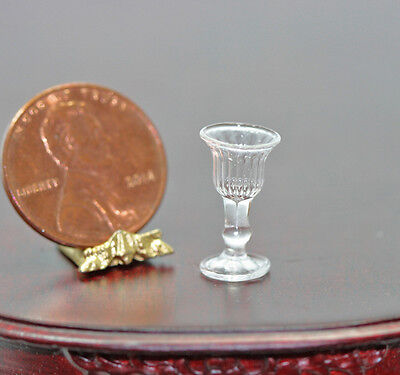 Dollhouse Miniature Crystal Ribbed Wine Glass by Bright deLights