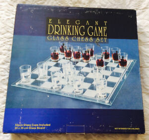 Shot Glass Chess Set $3 (New in Box)