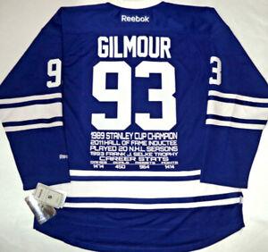 1e14f0d0949 DOUG GILMOUR TORONTO MAPLE LEAFS REEBOK NHL STATS AWARD JERSEY