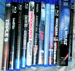 Non Damaged/Non Scratched slightly used Blu Ray Video Collection