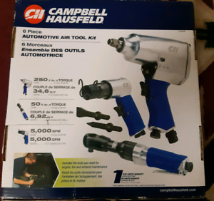 Brand new campbell hausfeld 6 piece automotive air tool kit
