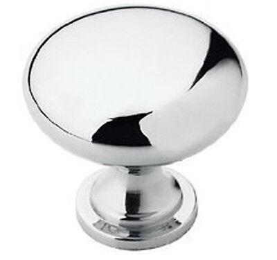 Bulldog Hardware Round Mirror Chrome Elegant Cabinet Pull Knob 1 3/8
