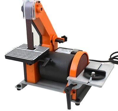 """1"""" X 30"""" Belt 5"""" Disc Sander 1/3HP Polish Grinder Sanding Machine Table Polisher"""