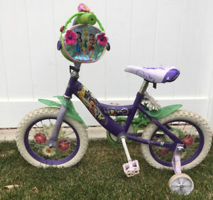 """Girls 14"""" Huffy Bike with removable training wheels"""