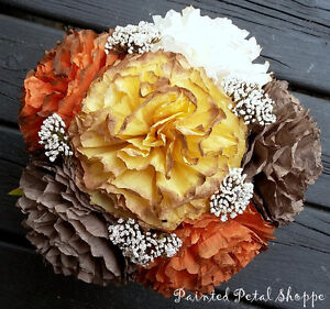 Fall Coffee Filter Arrangement/Thanksgiving/Fall Wedding Flowers Belleville Belleville Area image 2
