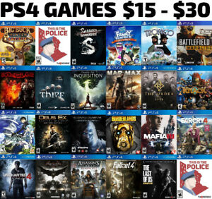 PS4 Games For Sale or Trade - $15 to $30