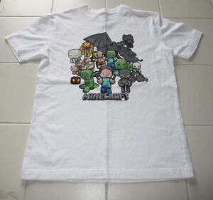 Boys white MInecraft t-shirt in size 10/12 *Never worn