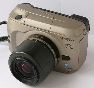 MINOLTA VECTIS S-100 SLR IX-DATE APS CAMERA WITH 28-56MM LENS, NEAR MINT / SALE for sale  Shipping to India