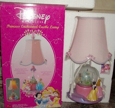 DISNEY Princess Enchanted Castle Lamp Night Light Globe 18 inch tal #10255  NIB