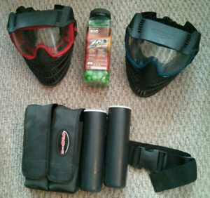 Paintball Gear -  Masks, Pods, Balls and Belt
