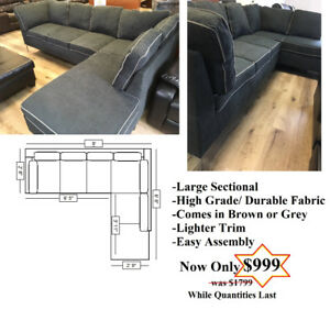 Modern design Sectional with Chrome Legs