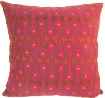 Maharam DESIGN 9297 by Josef Hoffmann Fuschia Pink Contemporary Modern Pillow